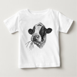 Happy Holstein Friesian Dairy Cow Baby T-Shirt