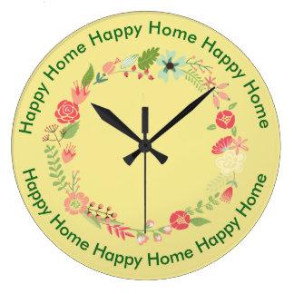 Happy Home Kitchen Clock