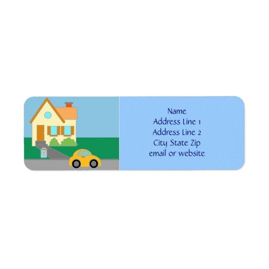 Happy Home Return Address Label
