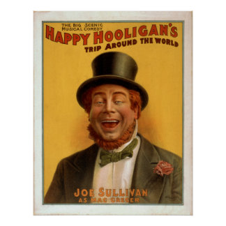 Happy Hooligans Trip Around The World Vintage Poster