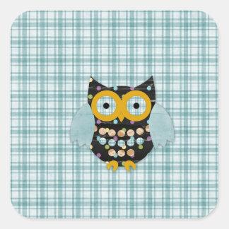 Happy Hooter Alli Square Sticker