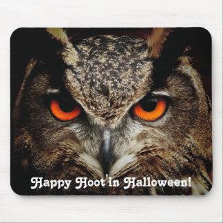 Happy Hoot'in Owl Mousepads