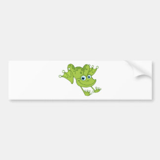 Happy Hopping Frog Bumper Sticker
