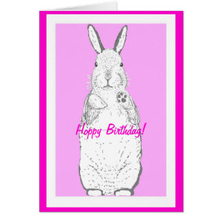 Happy( hoppy) Birthday Card