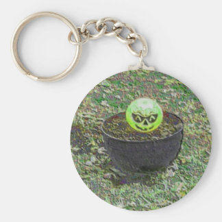 Happy Horror Night Green Halloween Pumpkin Key Chain