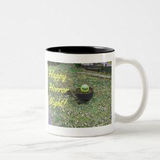 Happy Horror Night Green Halloween Pumpkin Mug