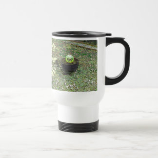 Happy Horror Night Greenish Halloween Pumpkin Mug