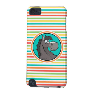 Happy Horse Bright Rainbow Stripes iPod Touch (5th Generation) Cases
