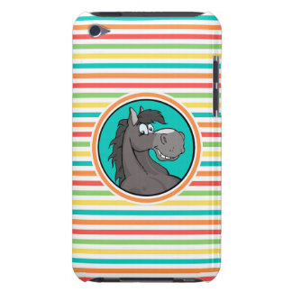 Happy Horse Bright Rainbow Stripes iPod Touch Cover