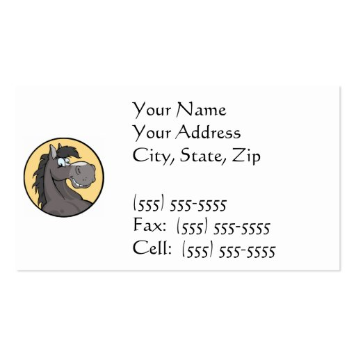 Happy Horse Business Cards