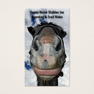 Happy Horse! Funny Nosey Horse Smiles Business Card