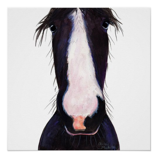 Happy Horse ' JeFF ' by Shirley MacArthur Poster