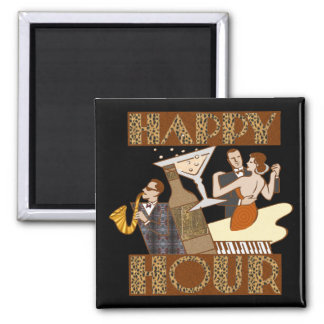 Happy Hour Beer T-shirts Gifts Square Magnet
