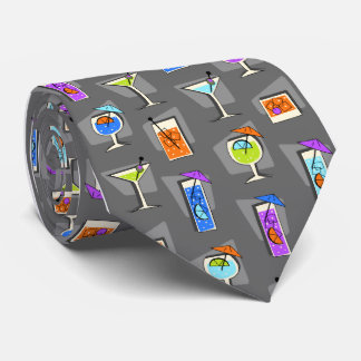 Happy Hour Fifties Cocktail Gray Tie
