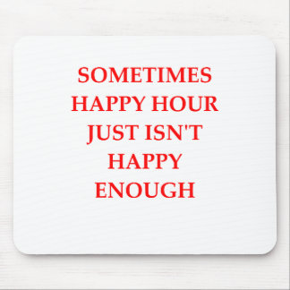 happy hour mouse pad