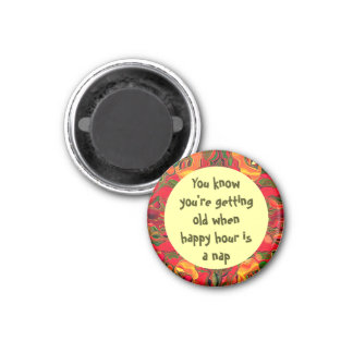 happy hour nap 3 cm round magnet
