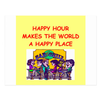 happy hour postcard