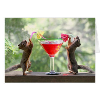 Happy Hour Squirrels Cards