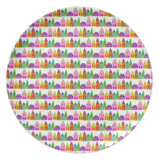 happy houses melamine plate