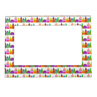 happy houses photo picture frame