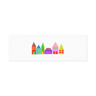 happy houses wall canvas