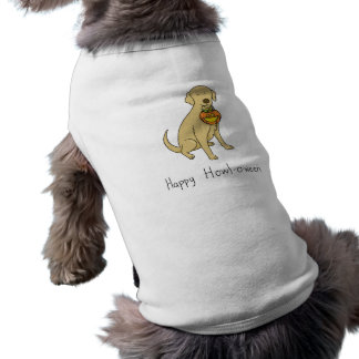 Happy Howl-o-ween - Halloween Dog - Yellow Lab Shirt