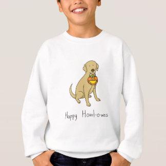 Happy Howl-o-ween - Halloween Dog - Yellow Lab Sweatshirt