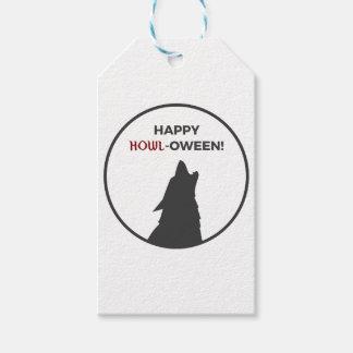 Happy Howl-oween Werewolf Halloween Design Gift Tags