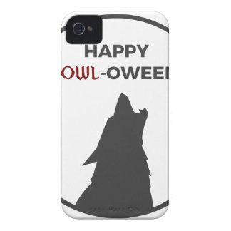 Happy Howl-oween Werewolf Halloween Design iPhone 4 Case-Mate Case