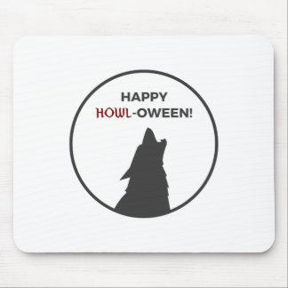Happy Howl-oween Werewolf Halloween Design Mouse Pad