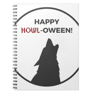 Happy Howl-oween Werewolf Halloween Design Notebook