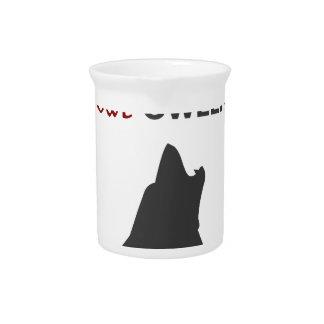 Happy Howl-oween Werewolf Halloween Design Pitcher