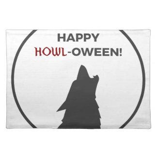 Happy Howl-oween Werewolf Halloween Design Placemat