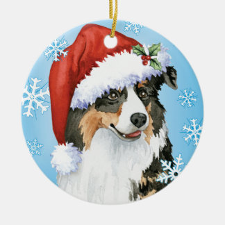 Happy Howliday Aussie Ceramic Ornament