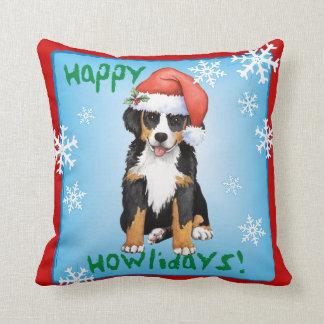 Happy Howliday Berner Cushion