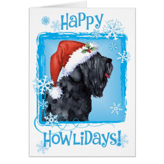 Happy Howliday Black Russian Terrier Card