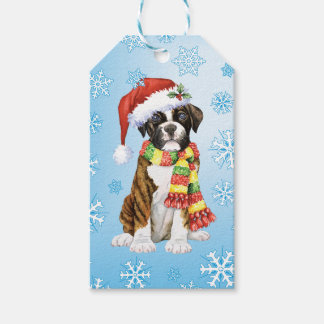 Happy Howliday Boxer Gift Tags