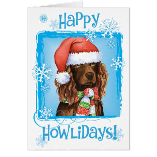 Happy Howliday Boykin Spaniel Card