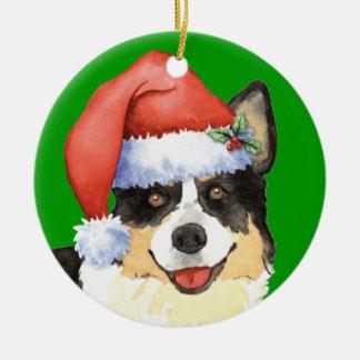 Happy Howliday Cardigan Welsh Corgi Christmas Ornaments
