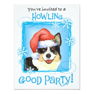 Happy Howliday Cardigan Welsh Corgi Personalized Announcements