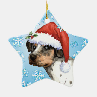 Happy Howliday Catahoula Ceramic Ornament