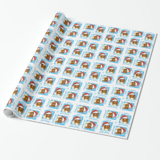 Happy Howliday Collie Wrapping Paper