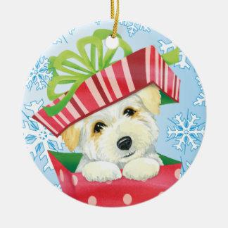 Happy Howliday Coton Ceramic Ornament