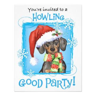 Happy Howliday Dachshund Custom Invites