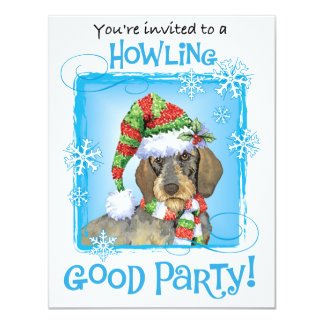 Happy Howliday Dachshund Personalized Announcements
