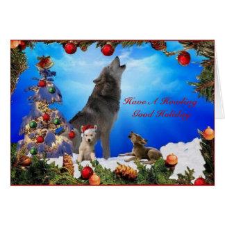 Happy Howliday Holiday card