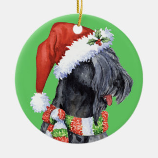 Happy Howliday Kerry Blue Terrier Ceramic Ornament