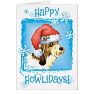 Happy Howliday PBGV Card