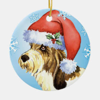 Happy Howliday PBGV Ceramic Ornament