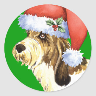 Happy Howliday PBGV Round Sticker